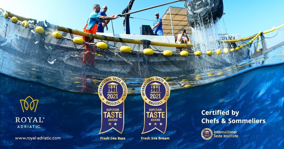 Proizvodima Royal Adriatic i 2021 godine uručeno vrhunsko svjetsko priznanje za kvalitetu - Superior Taste Award
